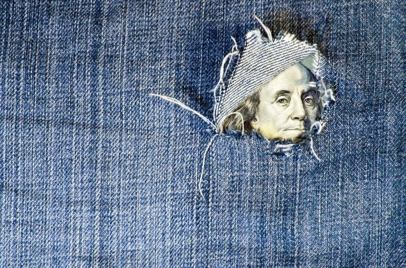 Crise financière : le trou est au budget images libres de droits