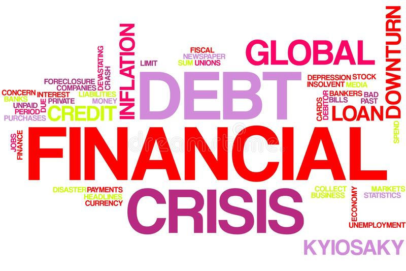 Crise financi?re image stock