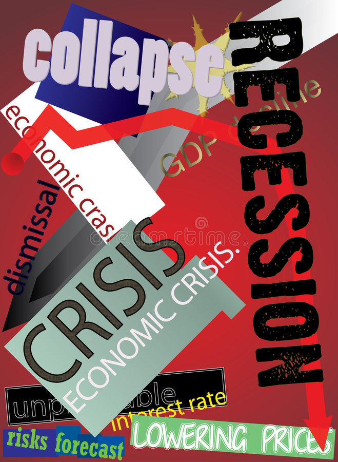 Crise global 2009 foto de stock