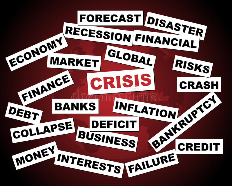Crise global ilustração stock