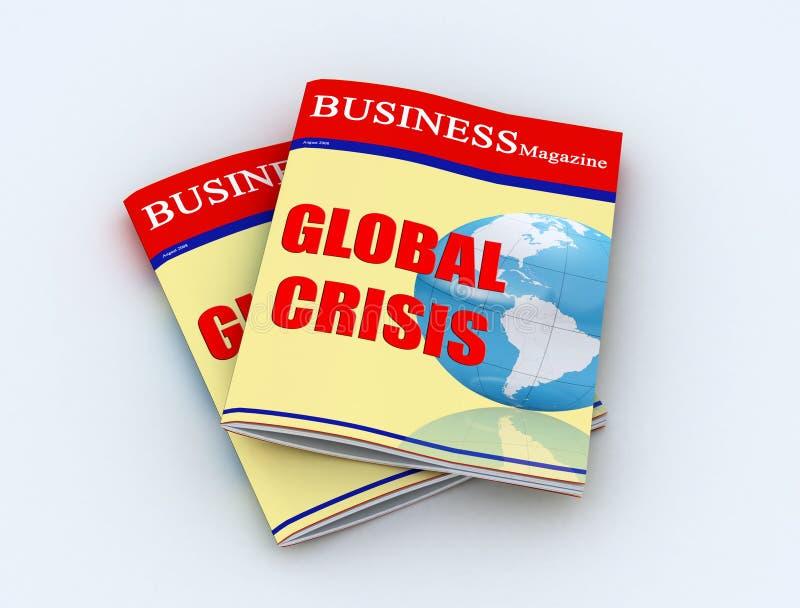 Crise global ilustração do vetor