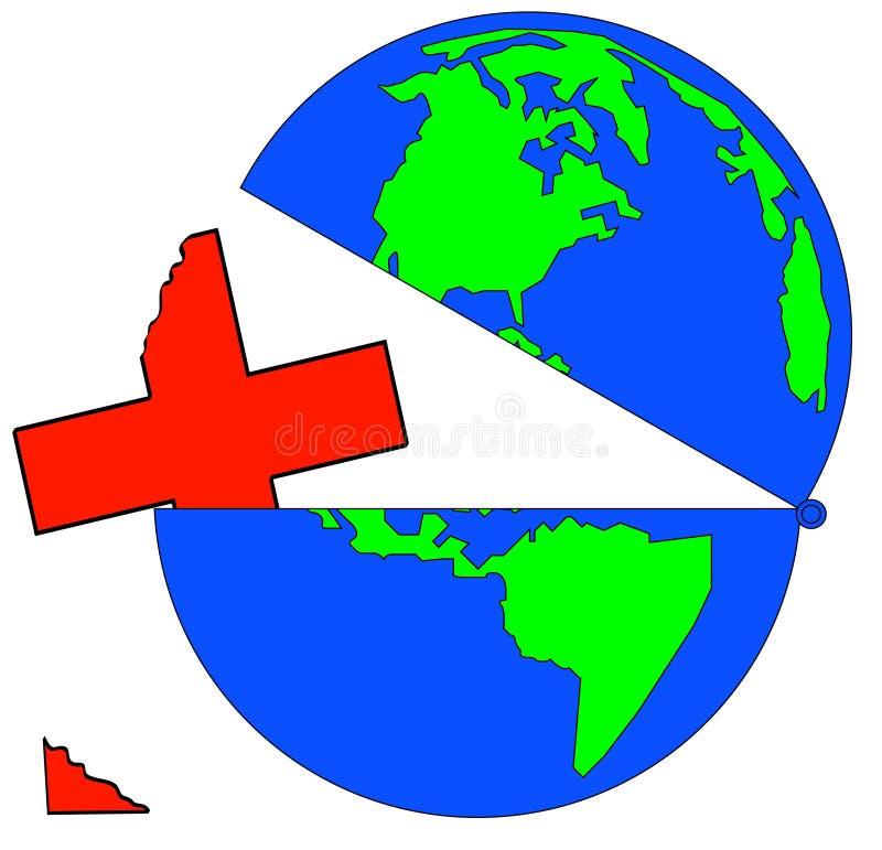 Crise globale de soins de santé illustration de vecteur