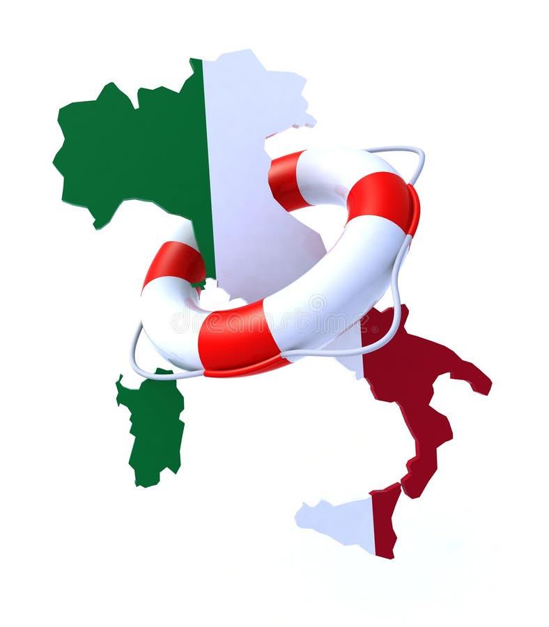 Crise no conceito de Itália ilustração royalty free