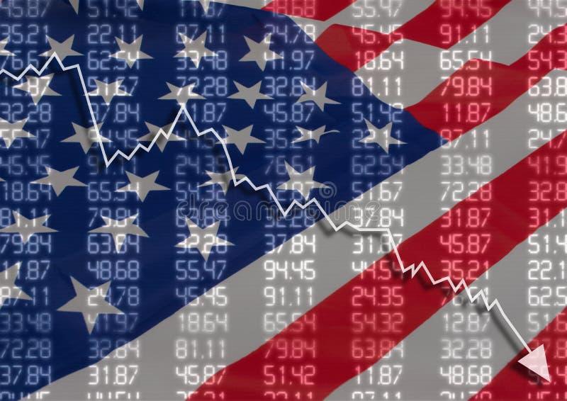 Crise nos EUA imagens de stock
