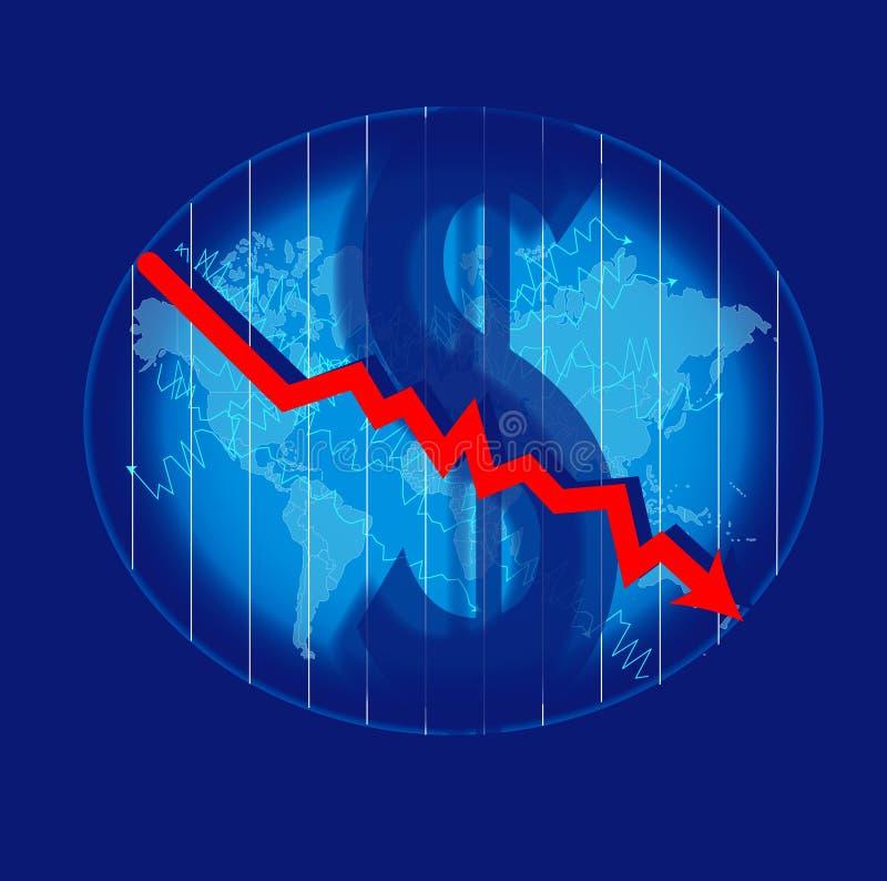 Crise que impacta no mundo ilustração do vetor