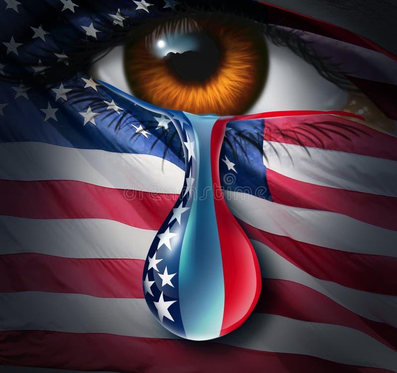 Crise social americana ilustração stock