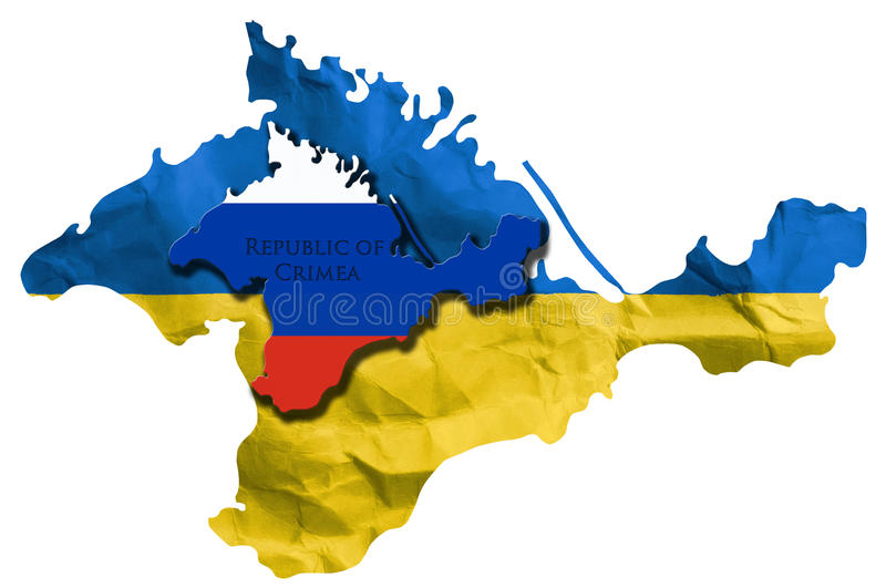 Crise ukrainienne photo stock