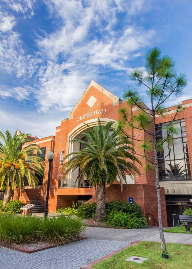 Criser Hall à l'université de la Floride image stock
