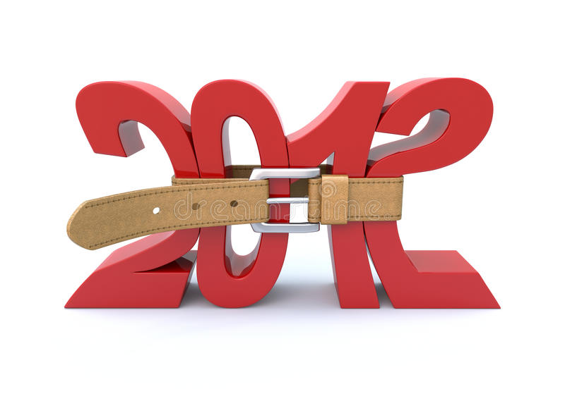 Crisi in 2012 royalty illustrazione gratis