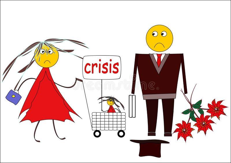 Crisi. royalty illustrazione gratis