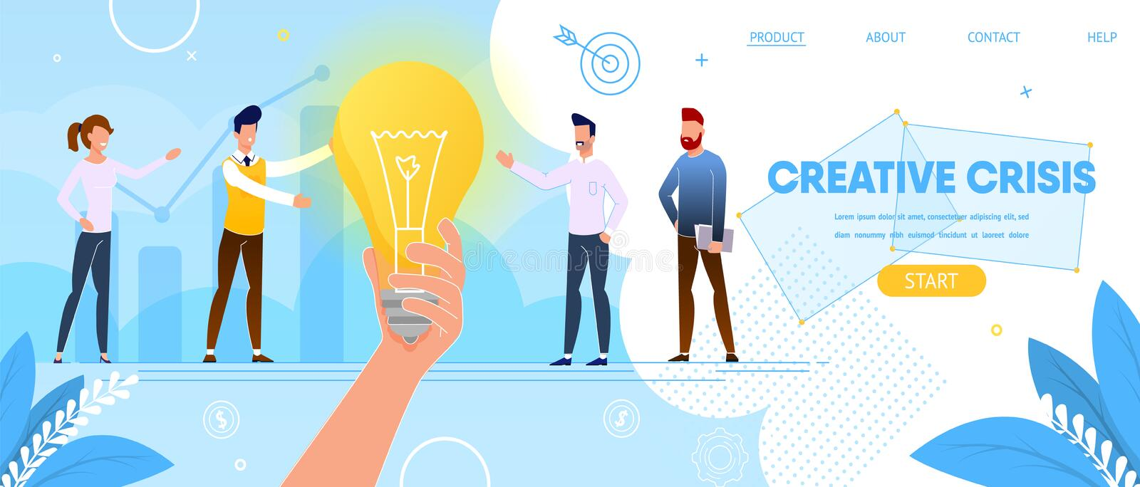 Crisi creativa E royalty illustrazione gratis