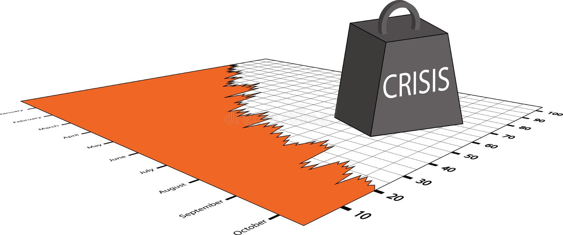 Crisi del mercato azionario illustrazione vettoriale
