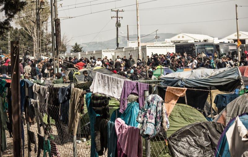 Crisi del rifugiato in Europa immagine stock
