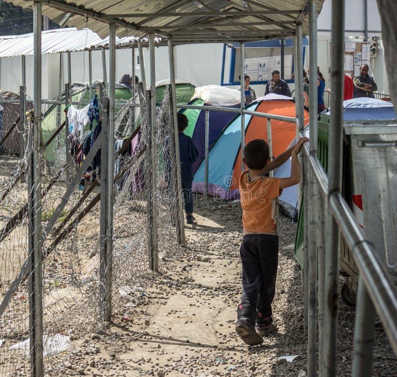 Crisi del rifugiato in Europa fotografia stock