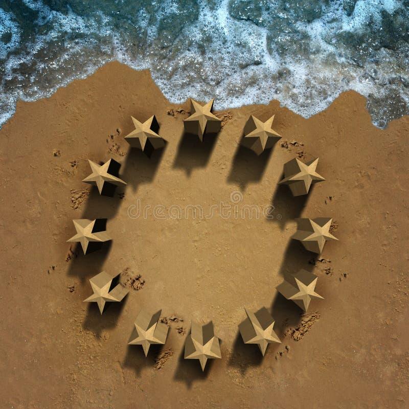 Crisi dell'Unione Europea illustrazione vettoriale