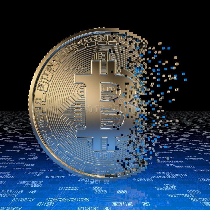 Crisi di bitcoin illustrazione di stock