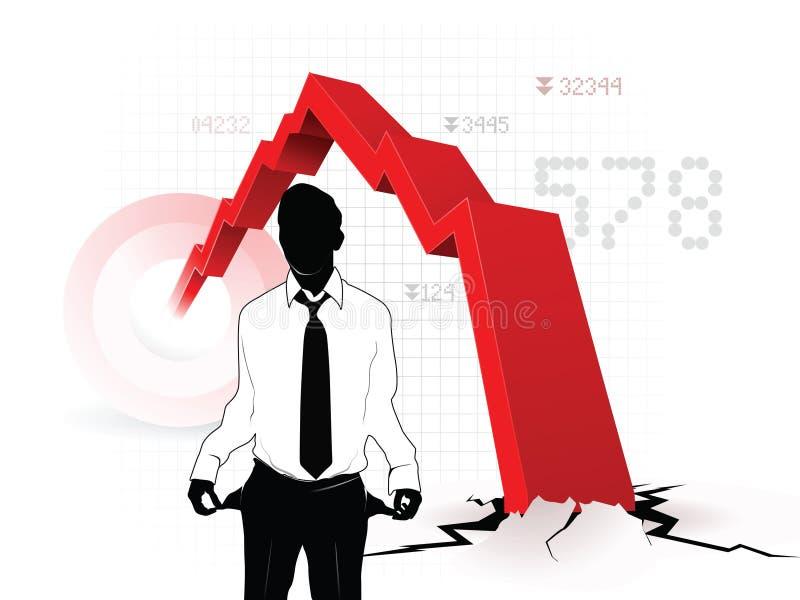 Crisi economica royalty illustrazione gratis