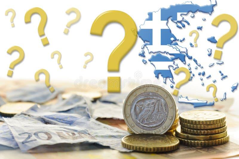 Crisi economica della Grecia fotografie stock libere da diritti