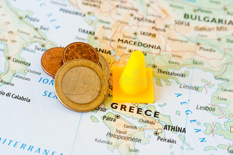 Crisi finanziaria della Grecia fotografia stock