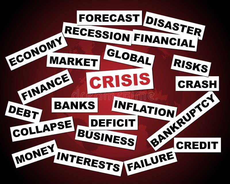 Crisi globale illustrazione di stock