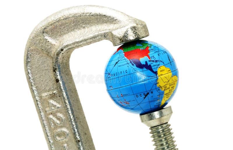 Crisi globale fotografie stock