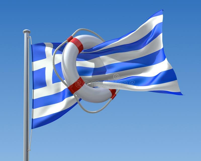 Crisi greca royalty illustrazione gratis