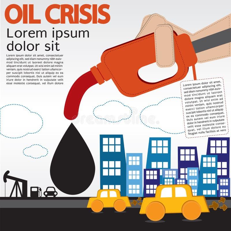 Crisi petrolifera. royalty illustrazione gratis