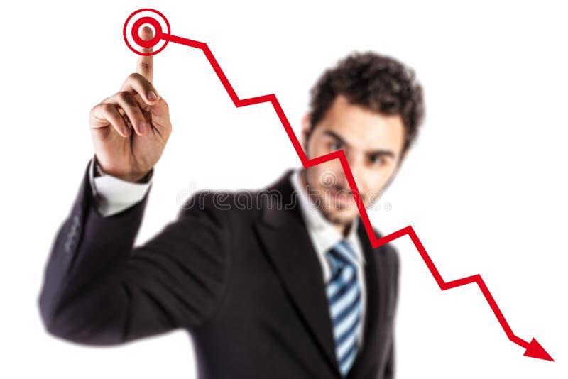 Crisis royalty-vrije stock afbeelding