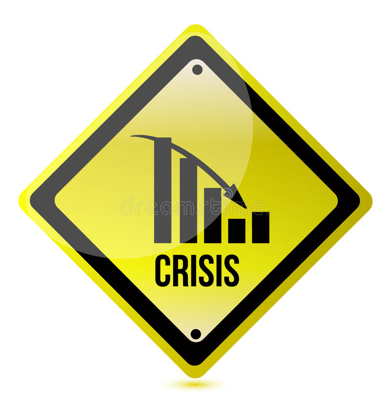Download Crisis Ahead Graph Yellow Traffic Sign Illustratio Stock Vector - Illustration of graph, crisis: 23102179