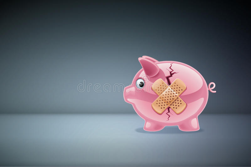 Crisis Business Concept. stock illustration