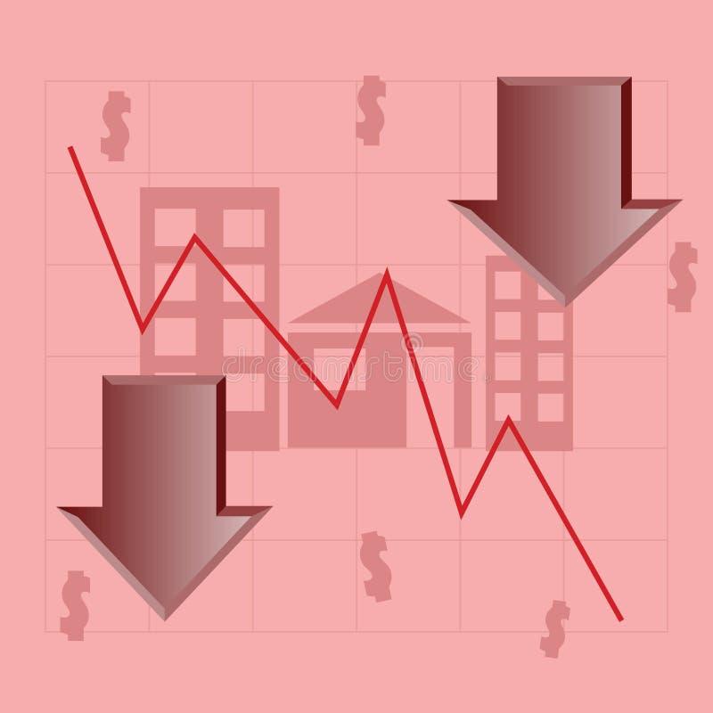 Crisis casera del sector stock de ilustración