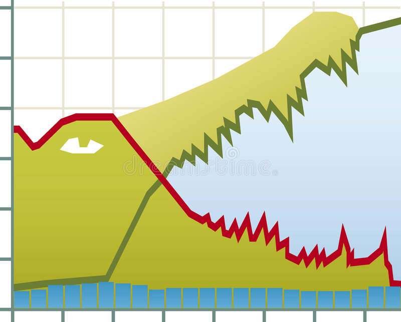 Crisis chart. Vector illustration of crisis chart concept. Only global colors. CMYK. Easy color changes vector illustration