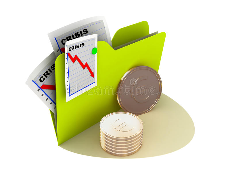 Download Crisis currency icon stock illustration. Image of symbol - 9869242