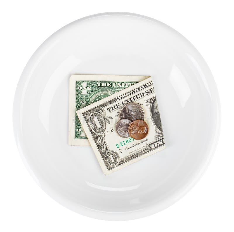 Crisis de la economía del concepto del dinero en circulación del dólar de los E.E.U.U. imágenes de archivo libres de regalías
