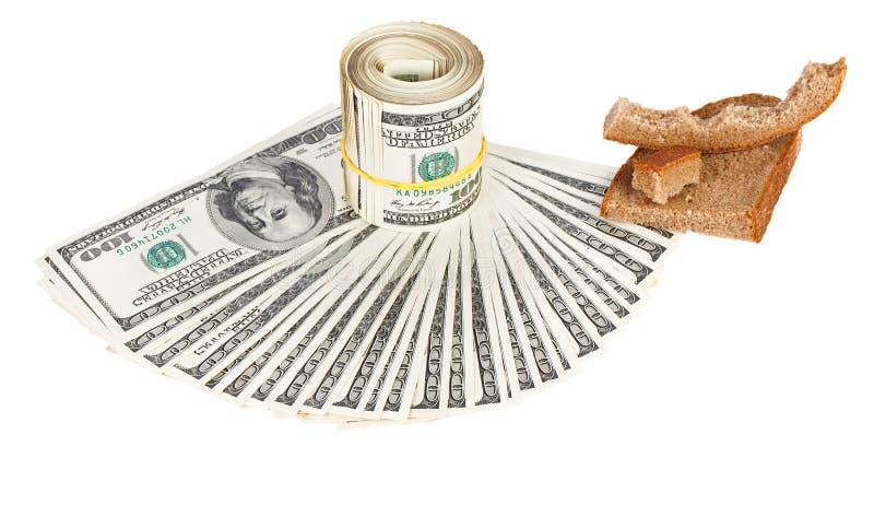 Crisis de la economía del concepto del dinero en circulación del dólar de los E.E.U.U. imagen de archivo