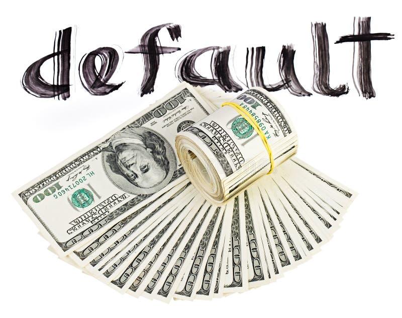 Crisis de la economía del dinero en circulación del dólar de los E.E.U.U. imágenes de archivo libres de regalías