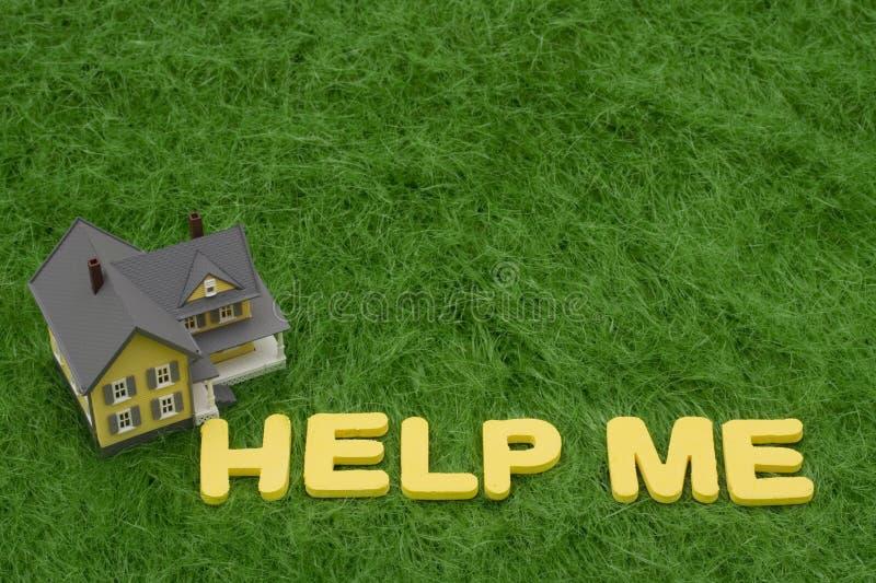 Crisis de la hipoteca foto de archivo libre de regalías