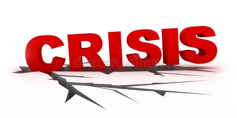 Crisis de la muestra en el fondo blanco libre illustration