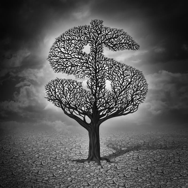 Crisis de las finanzas libre illustration