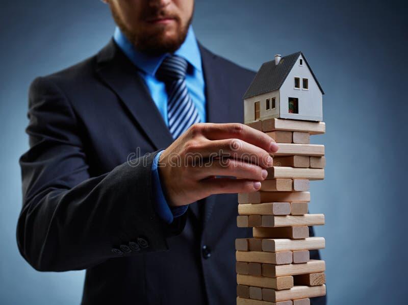 Crisis de las propiedades inmobiliarias foto de archivo libre de regalías
