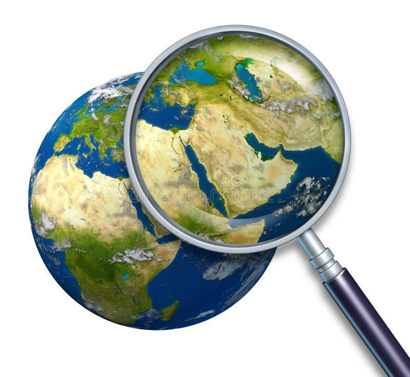 Crisis de Oriente Medio de la tierra del planeta stock de ilustración