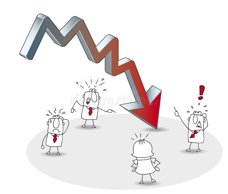 Crisis del negocio libre illustration