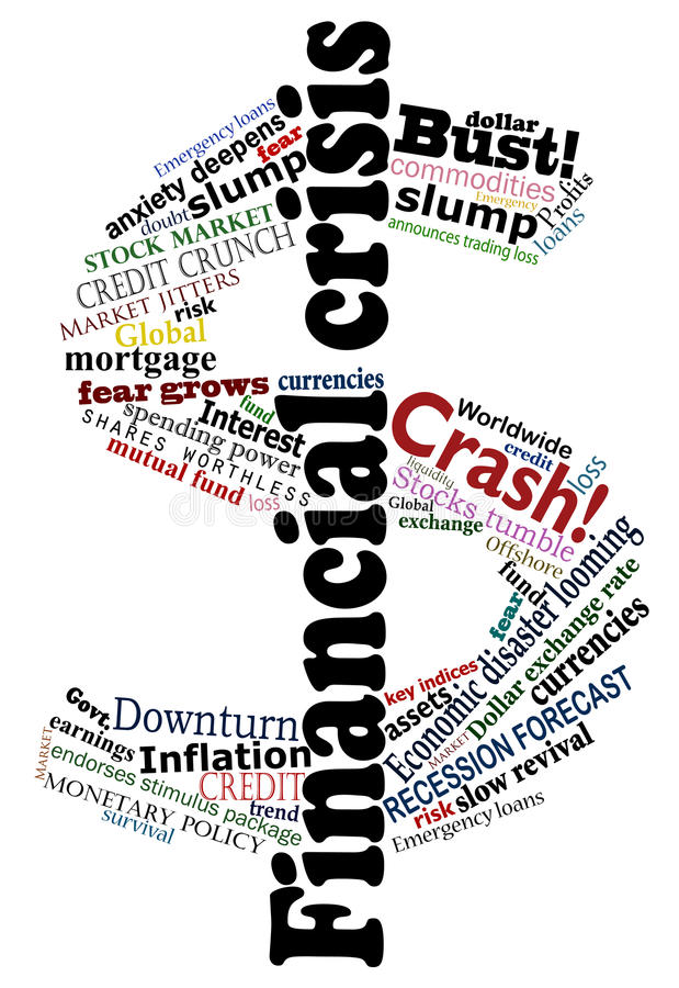 Crisis dollar vector illustration