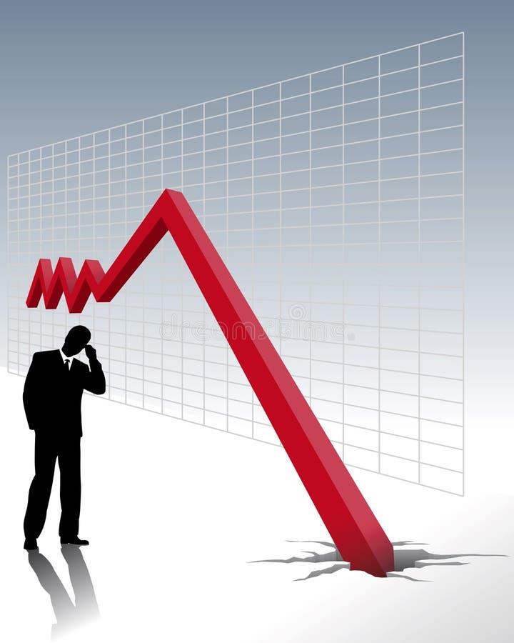Crisis económica stock de ilustración