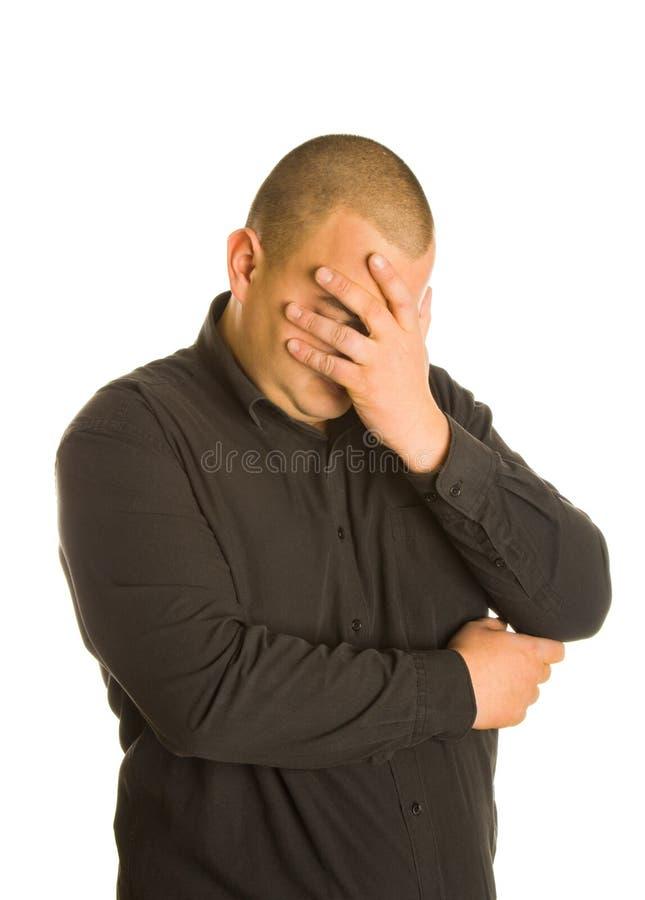 Crisis económica: hombre de negocios de la tristeza foto de archivo libre de regalías