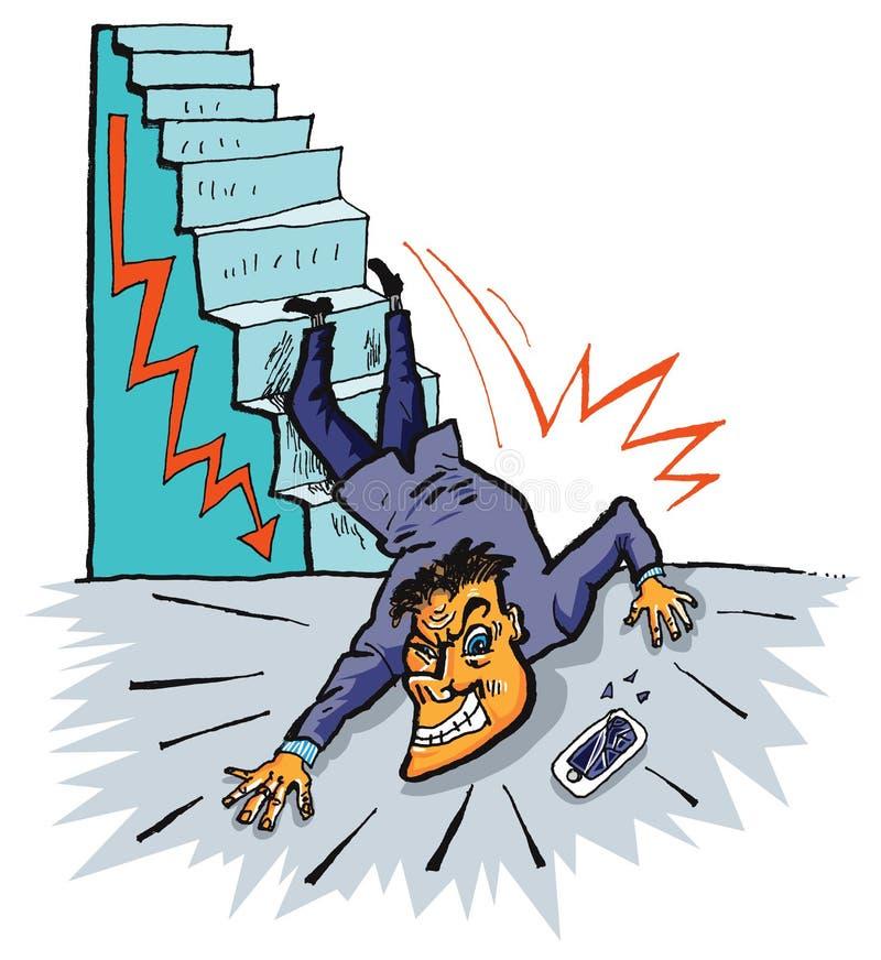 Crisis económica (vector) ilustración del vector