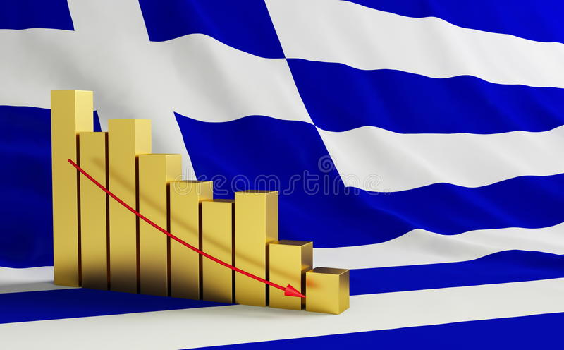 Crisis en Grecia ilustración del vector
