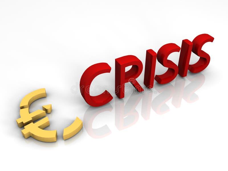 Crisis euro ilustración del vector