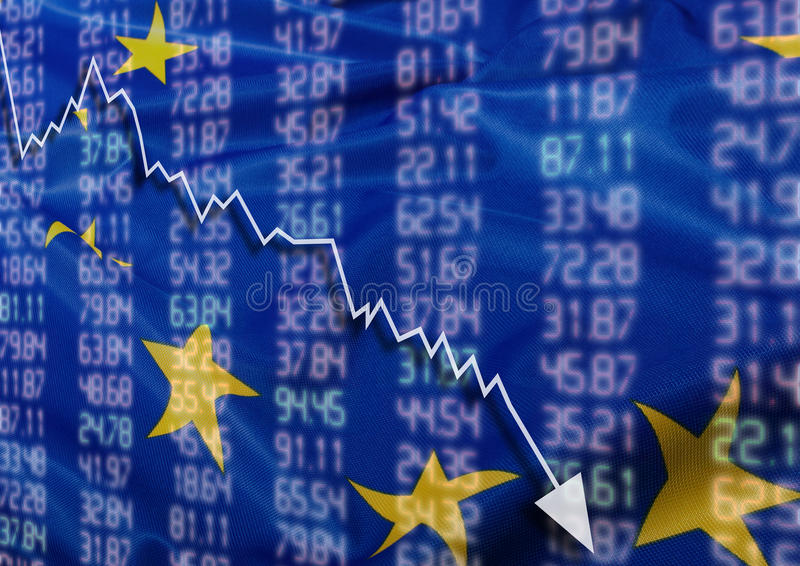 Crisis in Europe stock images