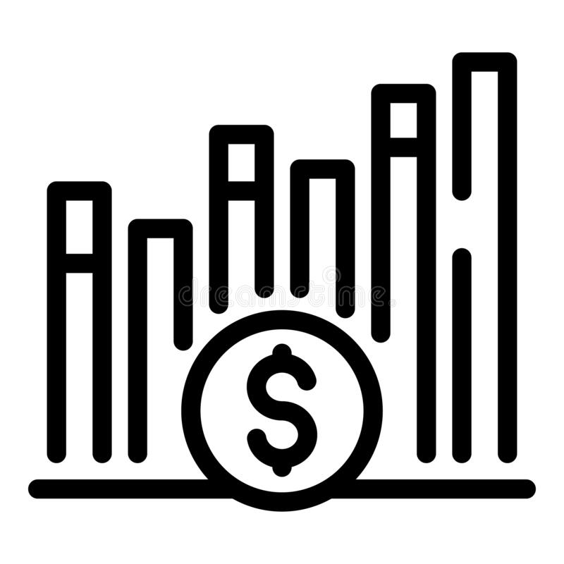 Free Crisis Finance Graph Chart Icon, Outline Style Stock Image - 190651031